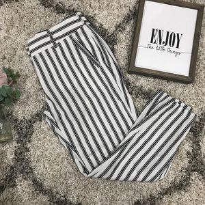 LOFT Marisa fit stripped dressy ankle pants